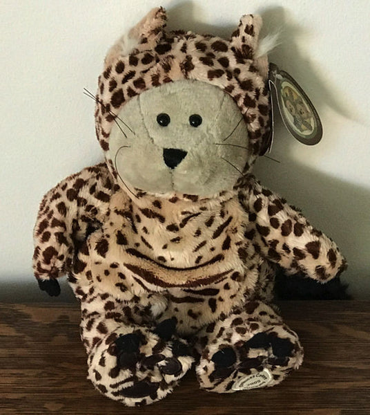 Starbucks 40th Edition Bearista BEAR Plush Stuffed CHEETAH Leopard 2005 with Tag