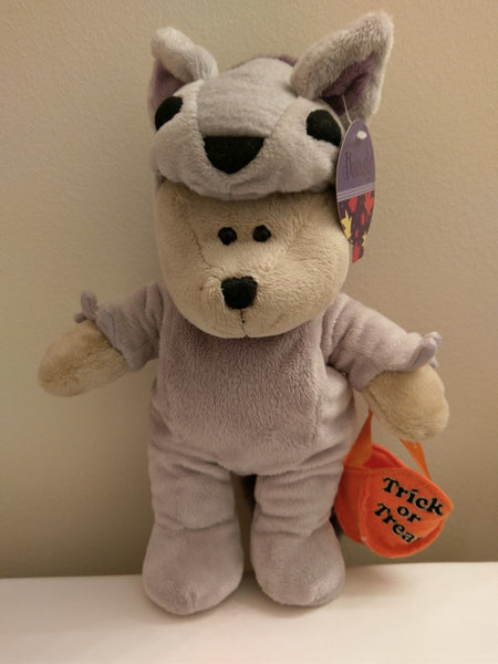 Starbucks 94th Bearista Bear Collection 2010 Halloween Purple Wolf Costume Plush