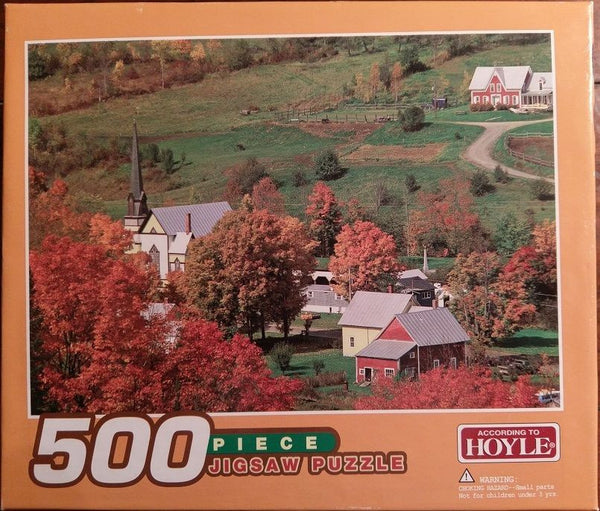 "According to Hoyle 500 Piece Jigsaw Puzzle Autumn Country Landscape 13.5"" x 9"""