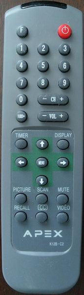 Apex K12B-C2 TV Remote Control