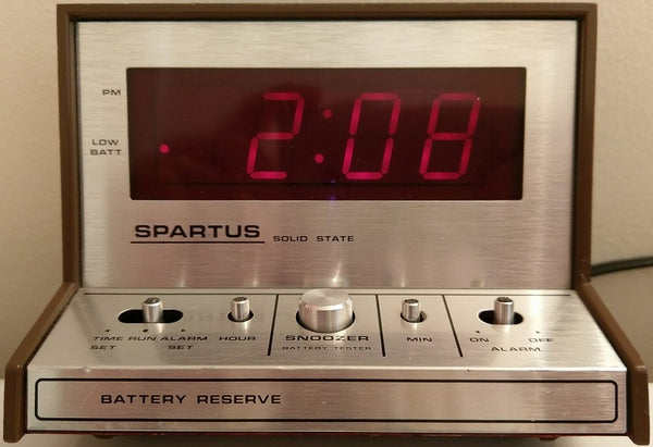 Spartus Solid State Alarm Clock Model 21-3004-500