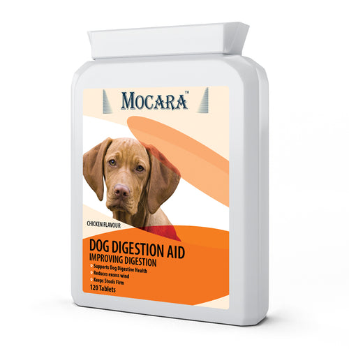 Mocara Dog Digestion Aid - Chicken Flavoured Treat Supplement Tablets 120