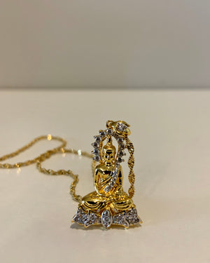 Halo Buddha Necklace {view}