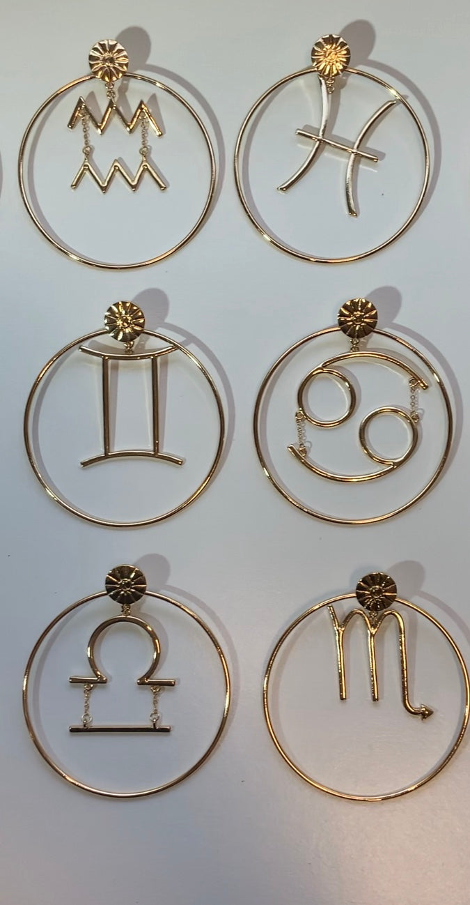 Nova Zodiac Hoop Earrings~ 2 Styles In One {view}