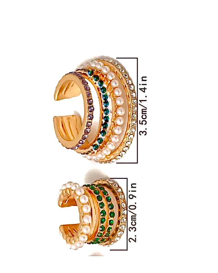 Cleopatra Cuff Earrings 2 pc set {view}
