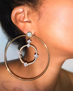 Shiloh Hoop Earrings {view} 2 Styles In One
