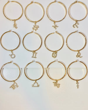 Stella Horoscope Hoop Earrings {view} Must DM/Email To Confirm Your Sign Is Available Before Purchase