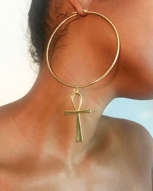 Ankh Earrings {view} See Color Options