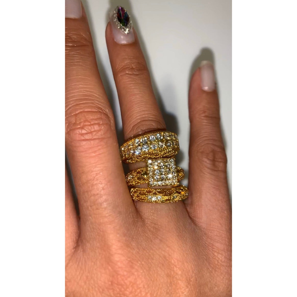 Fatima 3 pc Ring Set {view}