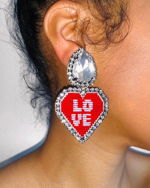 Lovey Earrings- Clip On {views}
