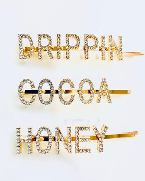 Drippin Cocoa Honey Hair Clips 3pc Set or Individual {view}