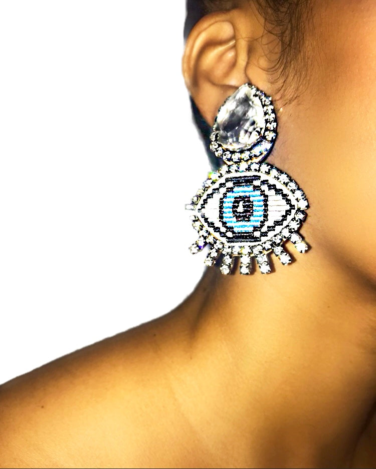 Izzy Earrings -Clip On {view} See Color Options