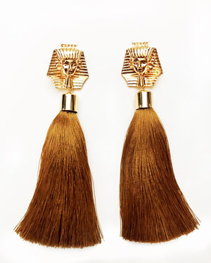 Tut Tassel Earrings {view}