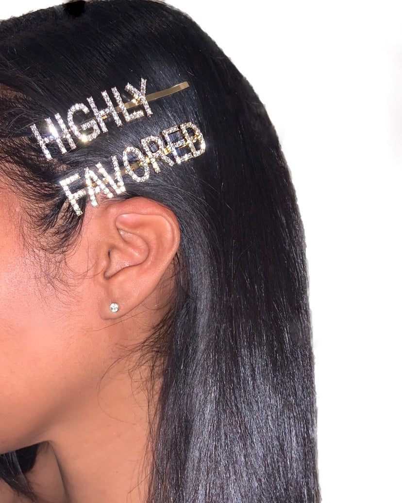 Highly Favored Hair Pin 2pc Set {view}