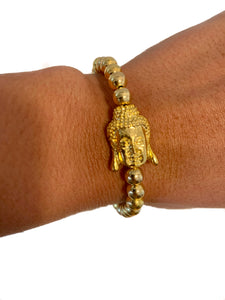 Luxe Gold Buddha Bracelet {view}