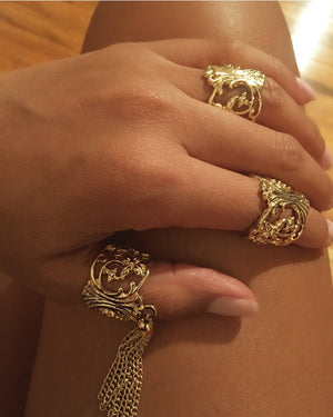 Diosa Mid Finger Ring Set {view}