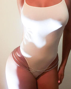 Havanna Hip Chain Silver {view}