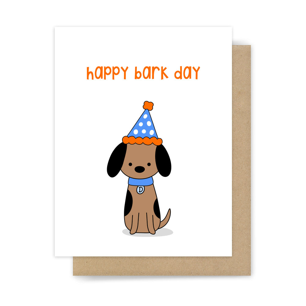 Funny dog happy birthday pun card cute handmade greeting cards happy bark day kristyandbryce Image collections