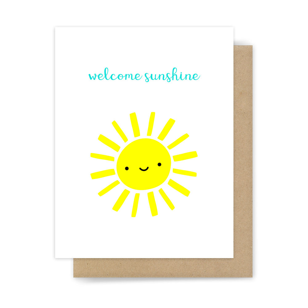 Welcome Sunshine New Baby Shower Congratulations Card By Sunny Dove Studio