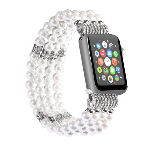 Pearl Strap for Apple Watch Band 38mm 42mm