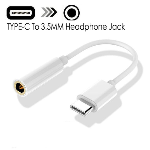 Braided Cable Adapter USB-C Type C To 3.5mm Jack Headphone