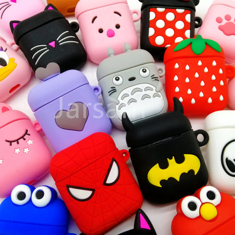 For Airpods Case Silicone Stitch Cartoon Cover for Apple Air pods