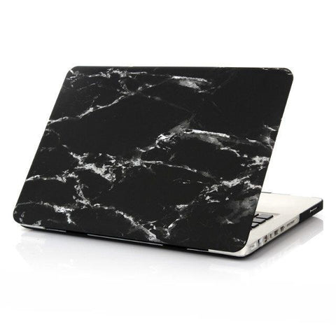 Premium Marble Black & White Case For Macbook + Keyboard Cover