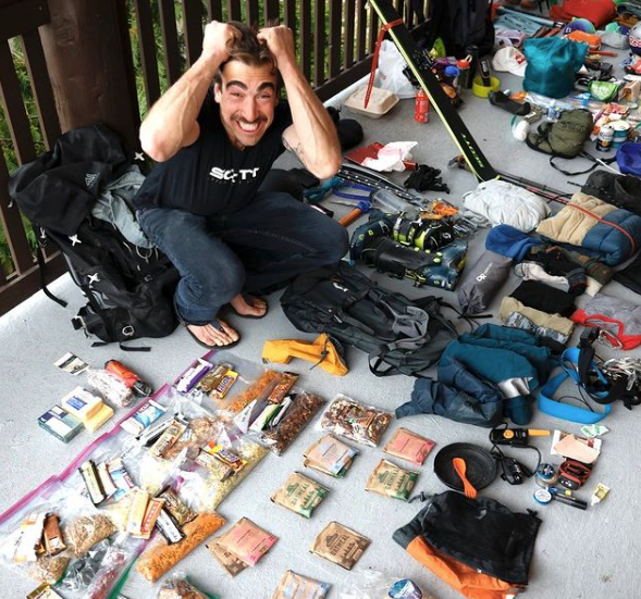 Sam packing for a trip