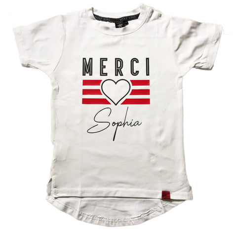 CUSTOM MERCI TEE