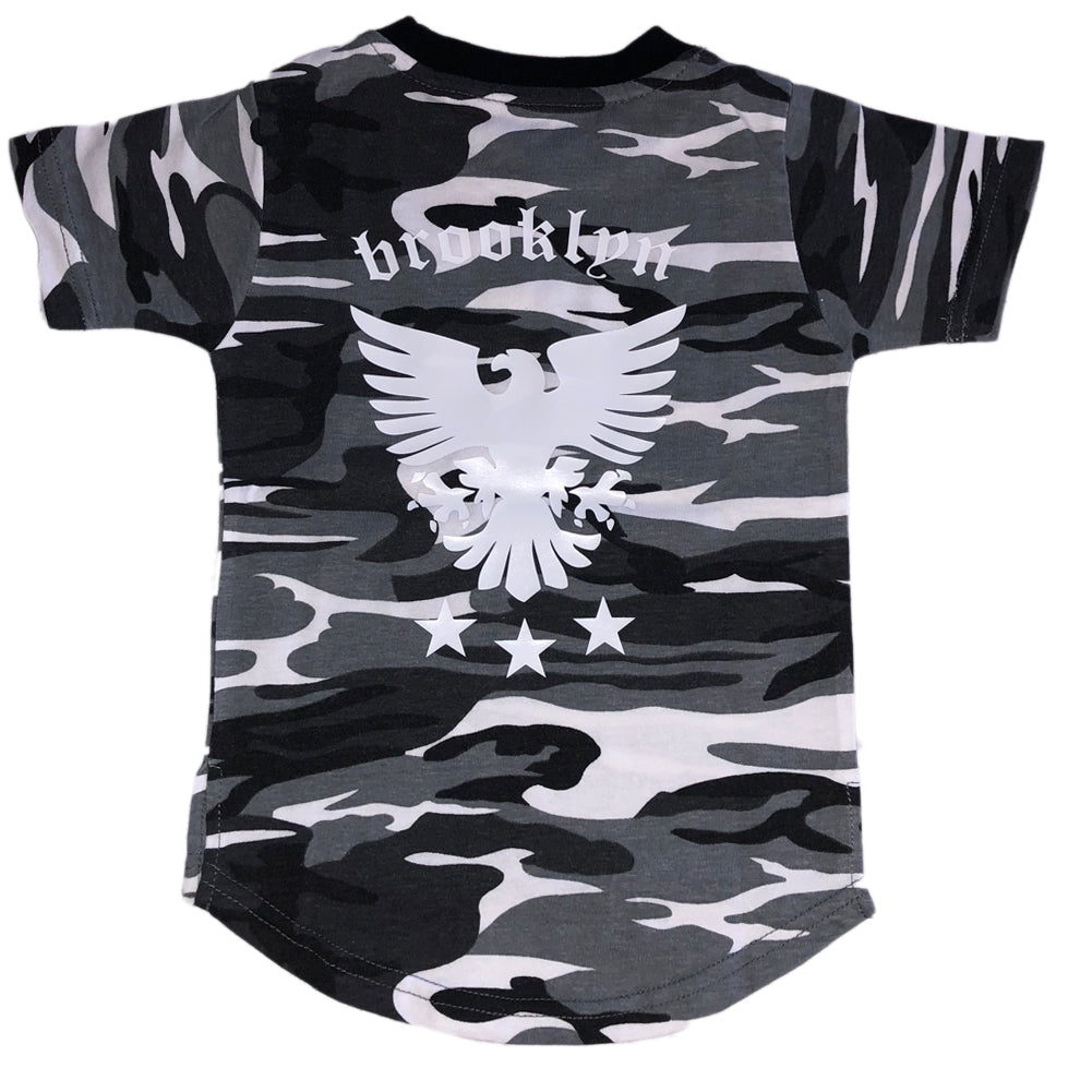 GREY CAMO CUSTOM EAGLE TEE