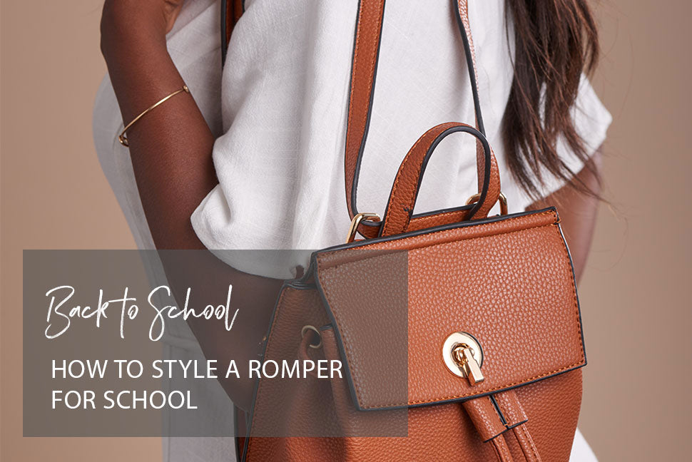 How to Style a Romper for School