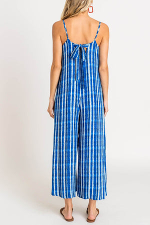 Zoom Me Blue Tie Dye Jumpsuit