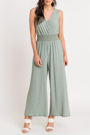 Proud Plant Mom Sage Sleeveless Jumpsuit