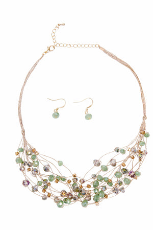 Caspian Mint Multi Beaded Necklace Set