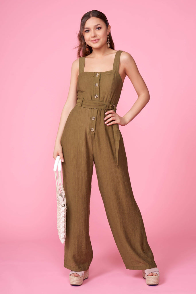 Gordy Olive Jumpsuit