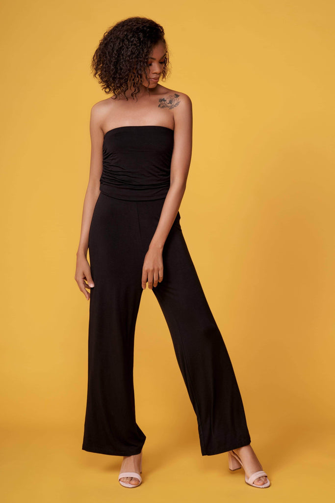Onyx Black Strapless Jumpsuit