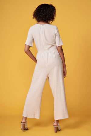 Choo Natural Linen Jumpsuit