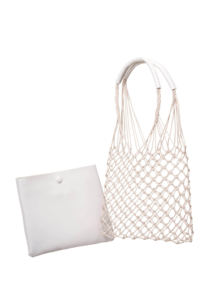 Magnolia White Net Shoulder Bag