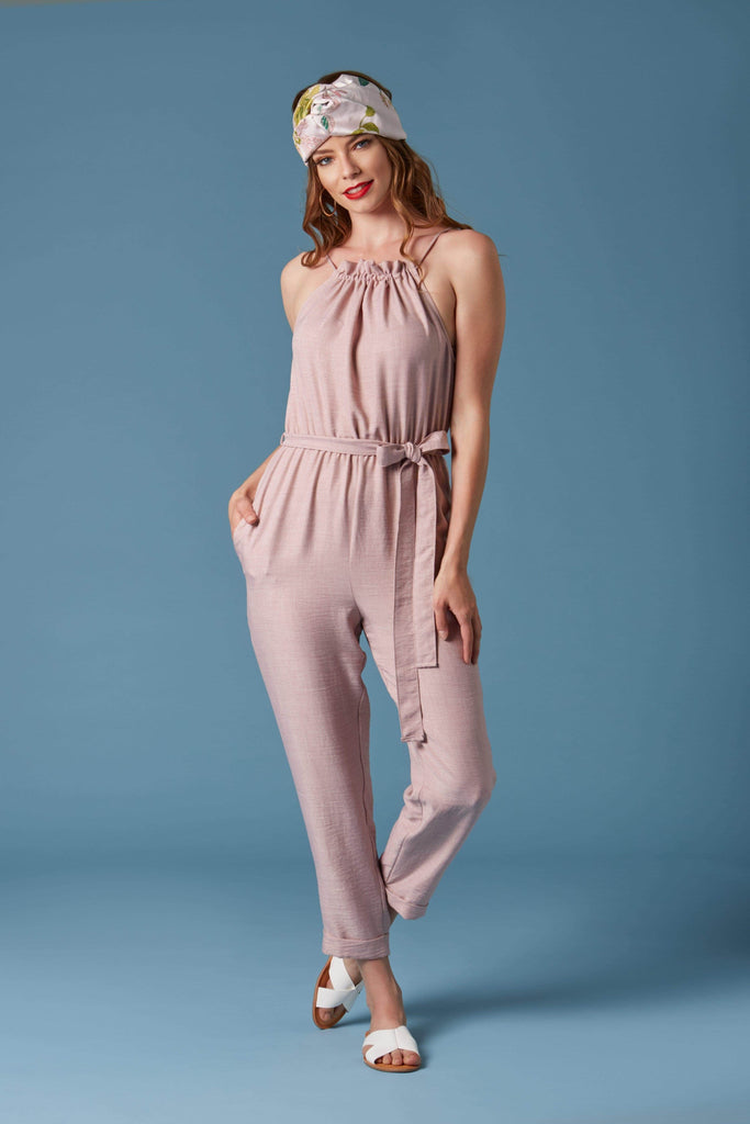 Cherry Cola Mauve Jumpsuit-Rompers