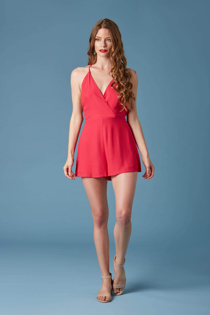 Cotton Candy Hot Pink Romper by Lush-Rompers