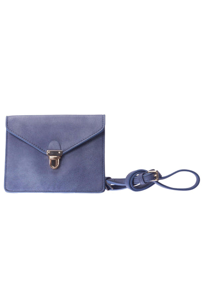 Envelope Periwinkle Crossbody Leather Purse