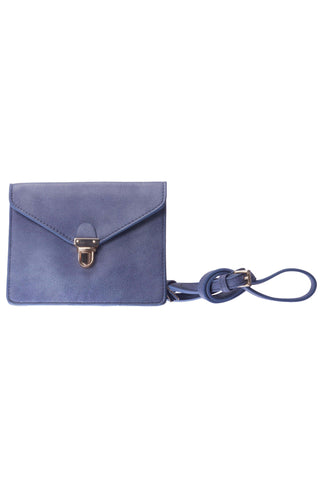 Envelope Periwinkle Crossbody Leather Purse-Accessories