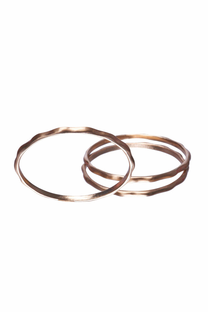 Geo Gold Bangle Set-Accessories