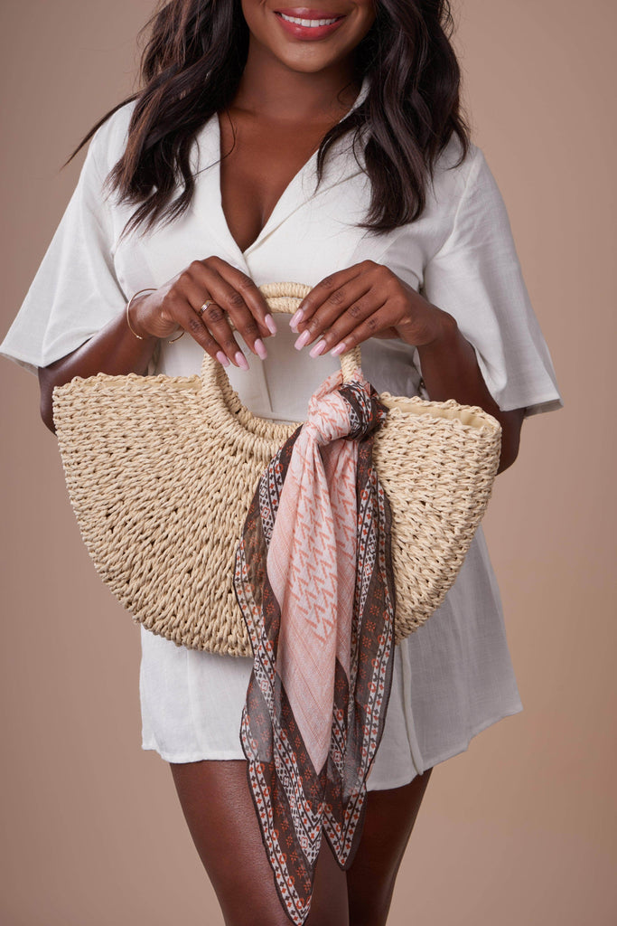 Half Moon Straw Bag-Accessories