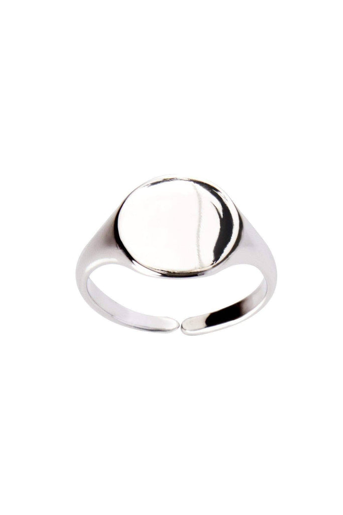 Keep it Real 24K White Gold Dipped Circle Ring-Accessories