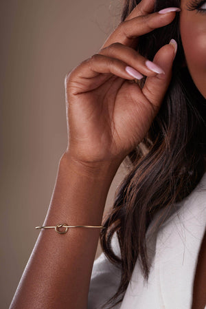 Knot Cuff Gold Bracelet-Accessories