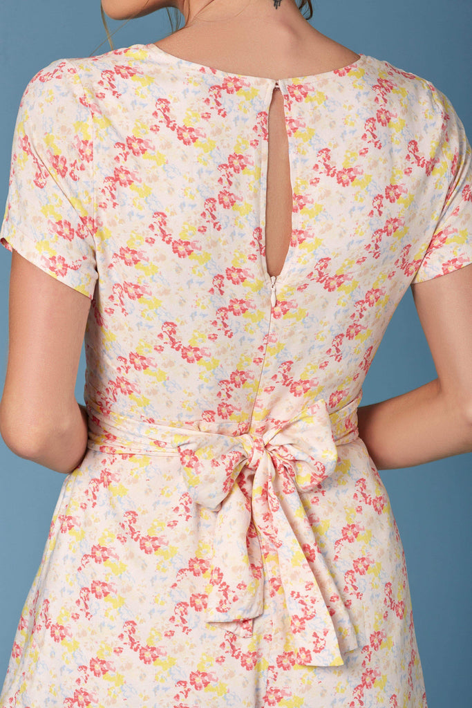 Kyoto Pink Floral Print Romper by Lush-Rompers