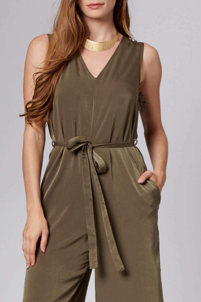Lisa Olive Midi Jumpsuit-Rompers