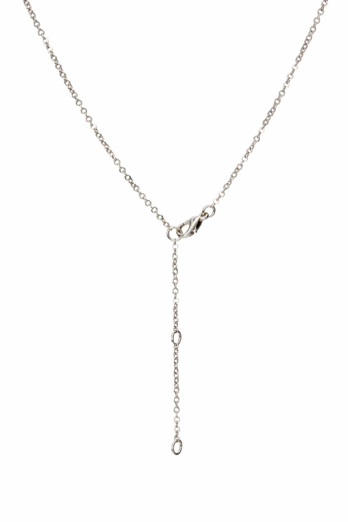 Love Me Knot Silver Pendant Necklace-Accessories