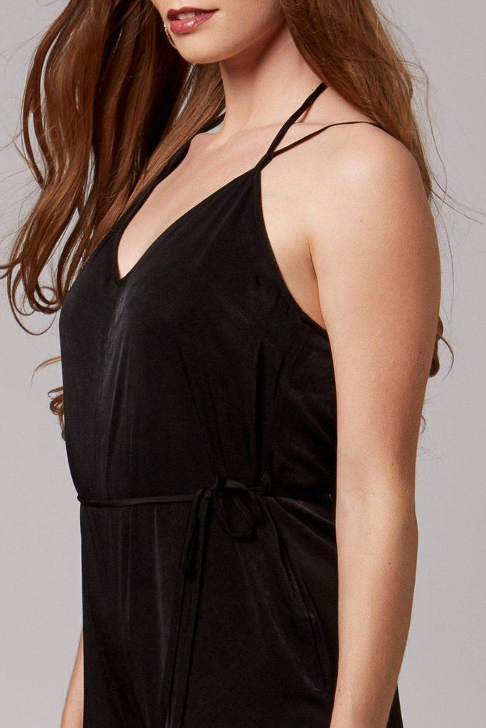 Malia Black Wide-Leg Jumpsuit-Rompers